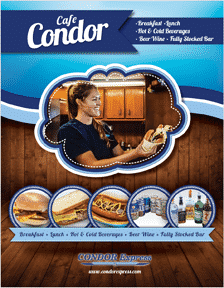 Condor Express Galley Menu