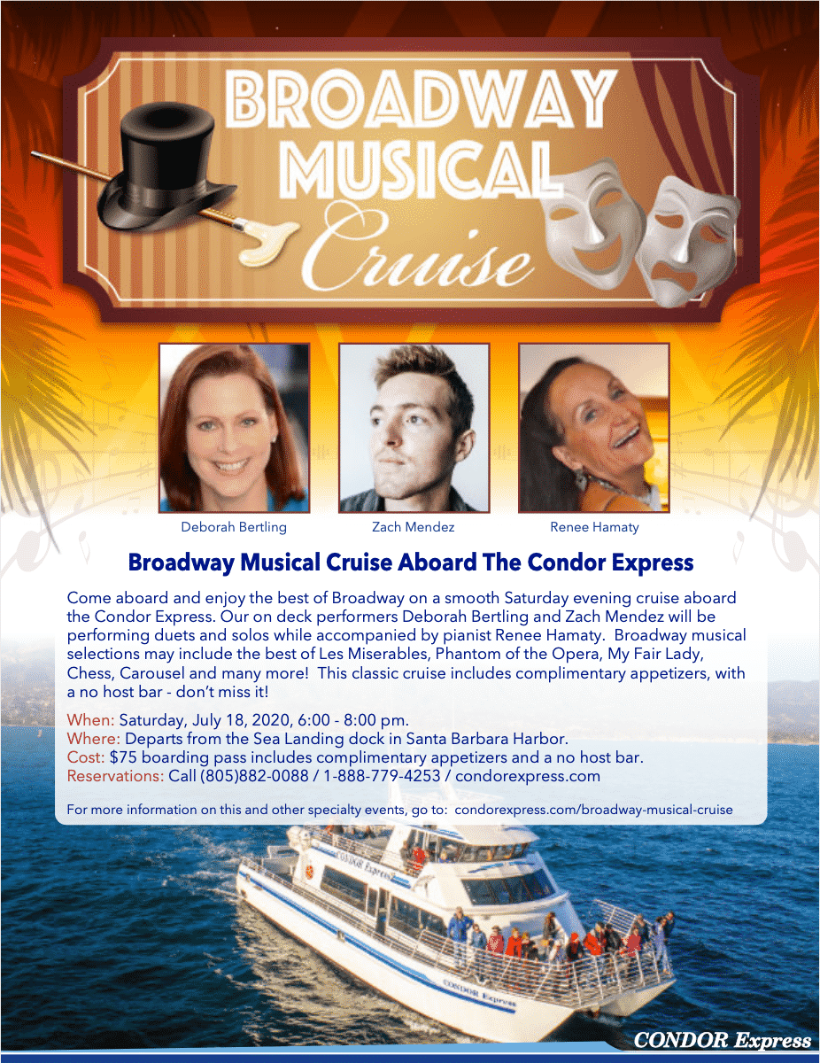 Broadway Musical Cruise Flyer